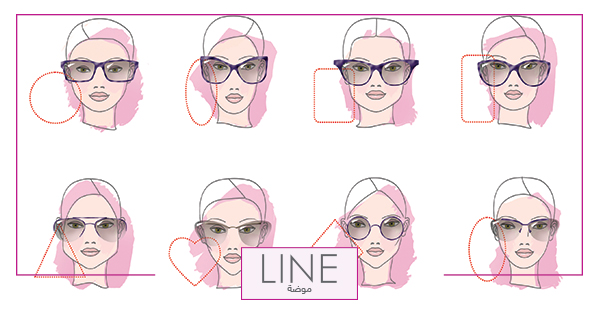 c0e24e6fb النظارات الشمسية المناسبة لشكل وجهك